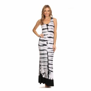 Black and White Maxi Dress by York Couture