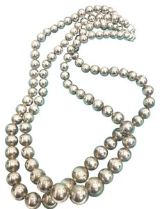 Tiffany & Co. Tiffany & Co Sterling Balls Beads 6mm to 12mm Necklace 16