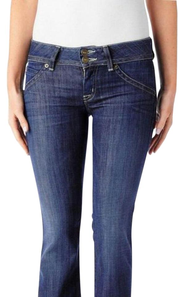 afe2500d82b Hudson Eden Blue Medium Wash Signature Petite Boot Cut Jeans Size 26 ...