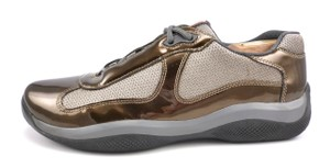 Prada Men's Patent Leather & Mesh Sneakers Ps0906