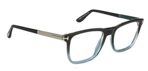 Tom Ford Tom Ford TF5341 Black Blue Ombre Oversized Rectangle Eyeglasses Frames