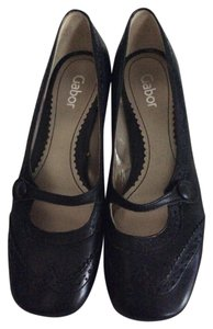 Gabor Leather Black Pumps
