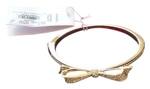 Kate Spade Kate spade OORU 1148 Love Notes Crystal Bow Gold Plated BangleWith Box And Dust Bag