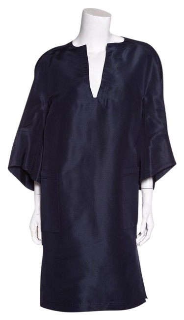 Item - Navy Silk Short Casual Dress Size OS (one size)