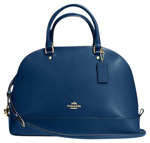 Coach Cora Domed Border Studed 37238 Satchel in GOLD/MARINA