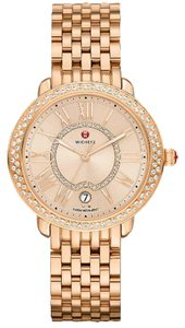 Michele NWT serein 16 rose gold and diamond watch