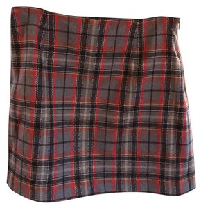 The Limited Mini Skirt black gray red white yellow