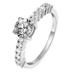 Master Of Bling Sterling Silver Solitaire Ring Engagement Wedding Promise Women Silver