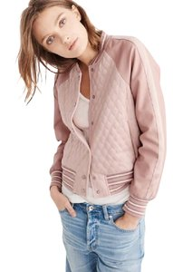 Abercrombie & Fitch pink Leather Jacket