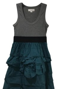 Alythea short dress gray, teal, black on Tradesy