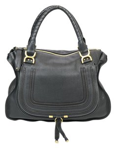 Chlo Chloe Leather Tote in Black