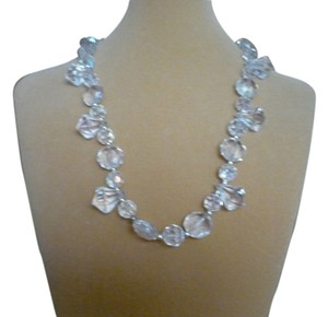 Crystal Clear Necklace with Tear Drops