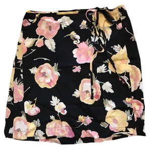 Reformation Mini Skirt Black Multi