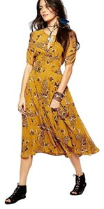 Mustard Maxi Dress by Free People Boho Midi