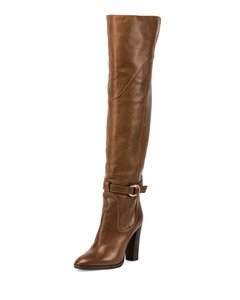 Chloé Sale Over The Knee Brown Boots