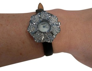 Badgley Mischka BADGLEY MISCHKA Womens BA/1103 Swarovski & Leather Watch