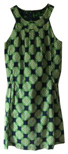 Dizzy Lizzie short dress navy blue with green and white on Tradesy