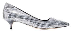 Cole Haan Metallic Silver Dressy Silver, Black Pumps