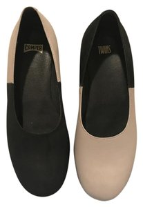 Camper Black and Beige Flats