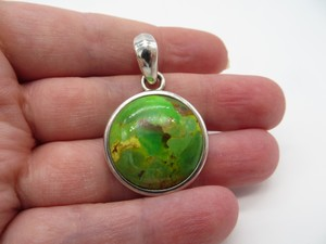 Barse Green Turquoise Sterling Pendant