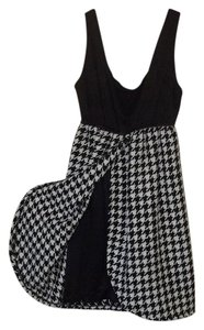 Judith March short dress black white Houndstooth Pattern Tank Babydoll Short on Tradesy