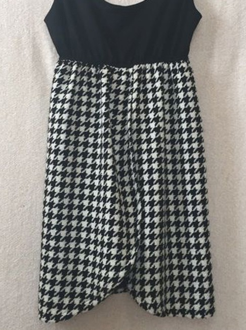 Judith March short dress black white Houndstooth Pattern Tank Babydoll Short on Tradesy Image 1