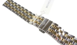 Michele Michele MS18FW285048 18mm 5 Link Two Tone Watch Strap Band NEW!