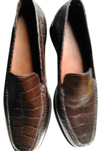 Ralph Lauren Never Worn Ralph Lauren Crocodile Brown Leather Loafers Flats