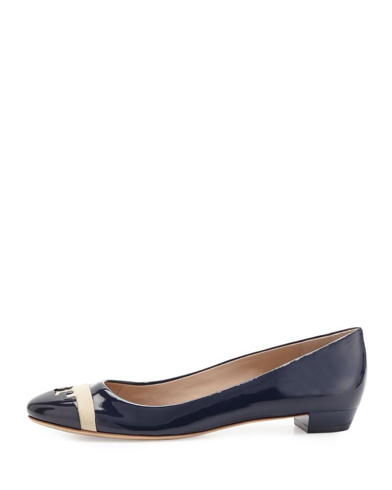 488f4a528fb Tory Burch Navy Gabrielle Patent Leather Flats Size US 10.5 Regular ...