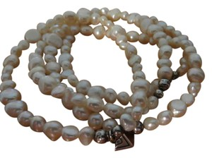 Silpada 4 Pearl and Sterling Bracelets
