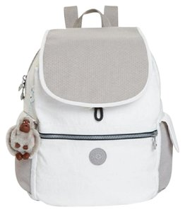 Kipling White Designer Backpack