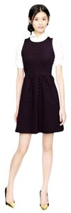 J.Crew Polka Dot Stretchy Velvet A-line Comfortable Dress