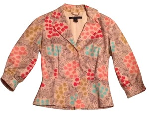Marc by Marc Jacobs Art Deco Floral with Tan Background Blazer
