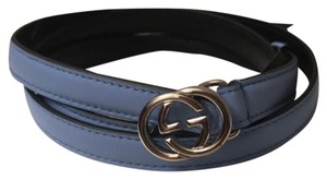 Gucci 90b mineral blue leather