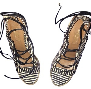 Aquazzura Black / white Wedges
