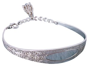 Other Silver Scroll Tassel Cuff Bangle Bracelet