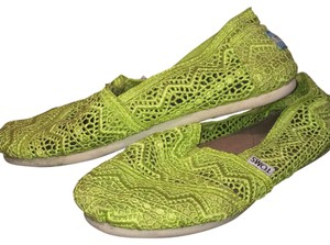 TOMS Crochet Lace Trim Sporty Casual green Flats