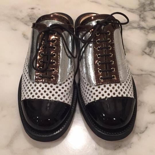 Chanel Silver, White, Black Mules Image 1