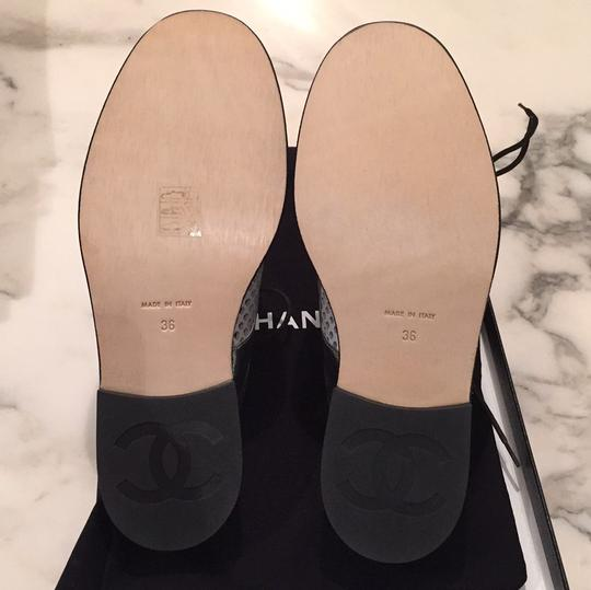 Chanel Silver, White, Black Mules Image 4