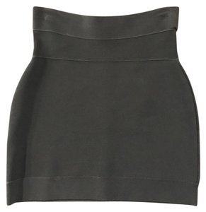 Herv Leger Mini Skirt Black