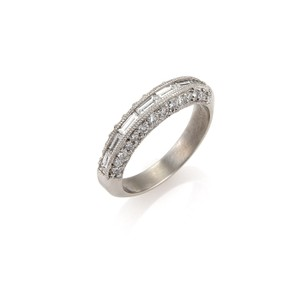 Tacori 18734 - Baguette & Round Diamonds Platinum Ring