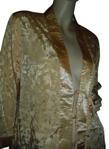 Suzanne Somers Suzanne Somers,3pc top,pj,kimono,wrap dress,gold nightwear set