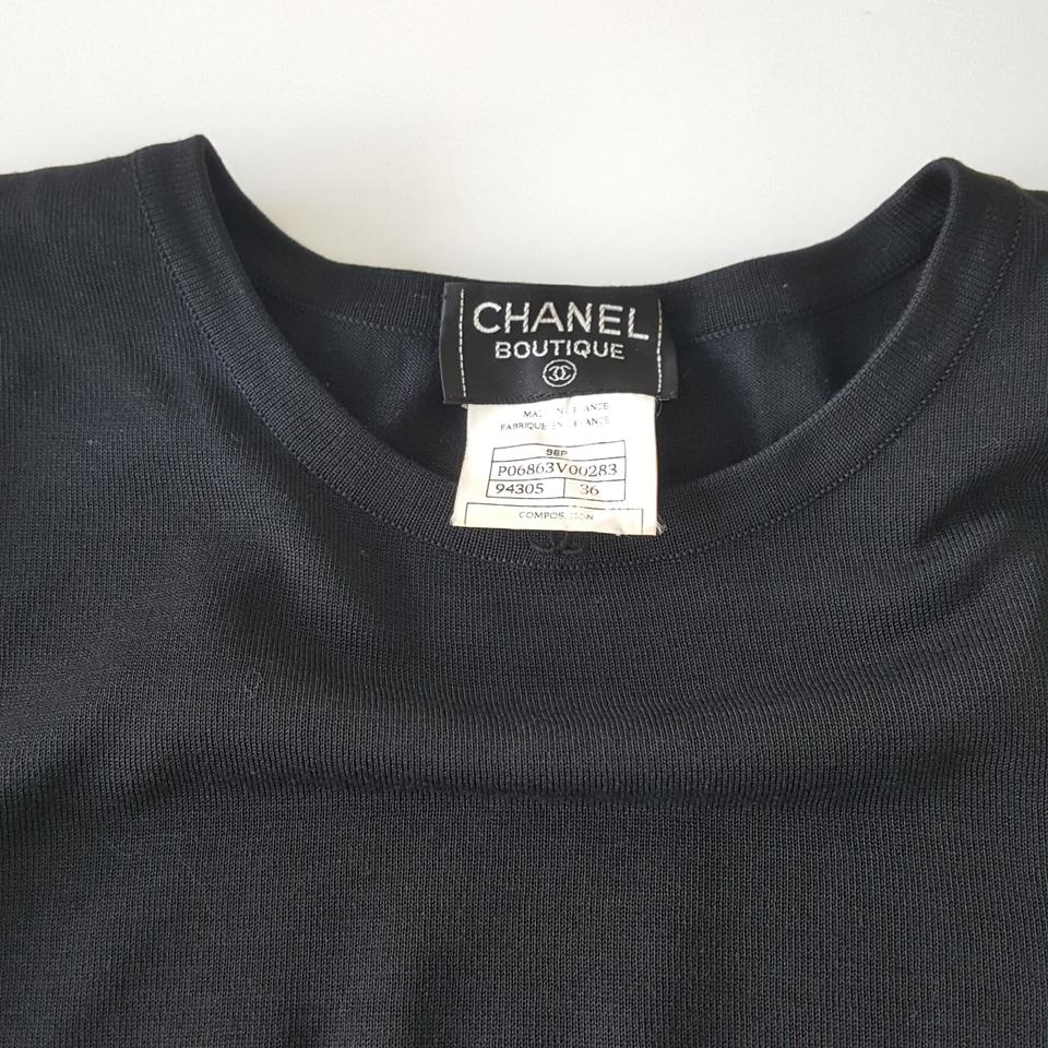 7ab108611b212c Chanel Black Cotton Cropped Tank Top Cami Size 2 (XS) - Tradesy