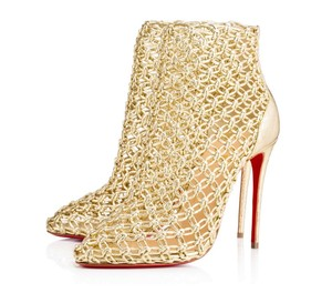 Christian Louboutin Andaloulou 100mm Boots Gold Pumps
