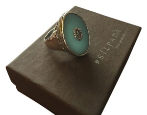 Silpada Amazonite And Sterling Silver Ring Sz 8