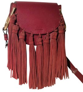 Chloé Fringe Tassel Hudson Suede Cross Body Bag