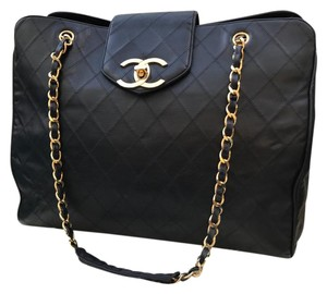 Chanel Jumbo Maxi Double Boy Overnight Black Travel Bag