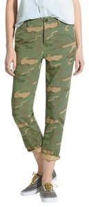 Madewell Camo Camouflage Military Cropped Capri/Cropped Pants