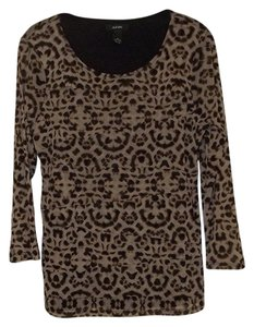 Alfani Long Sleeve Sheer Fashionable Stretchy Top leopard print