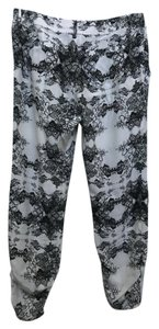 Parker Relaxed Pants White and Black floral